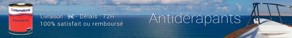 Promotion: Antidérapants marins livrés sous 72h, prix de la livraison à 9 euros !